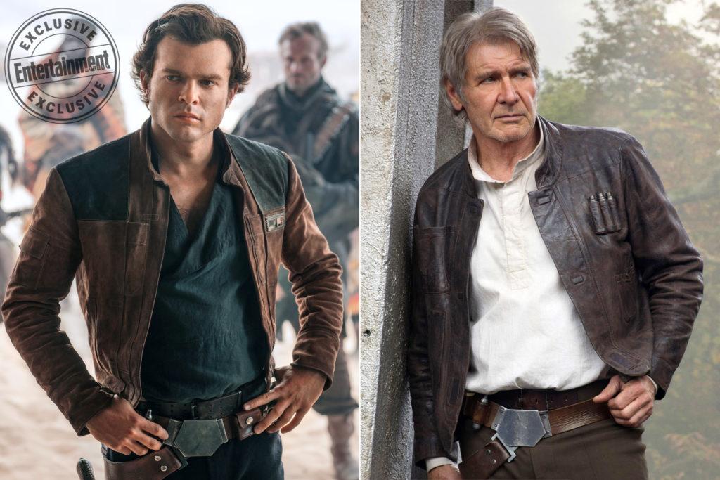 Vergleich Harrison Ford und Alden Ehrenreich