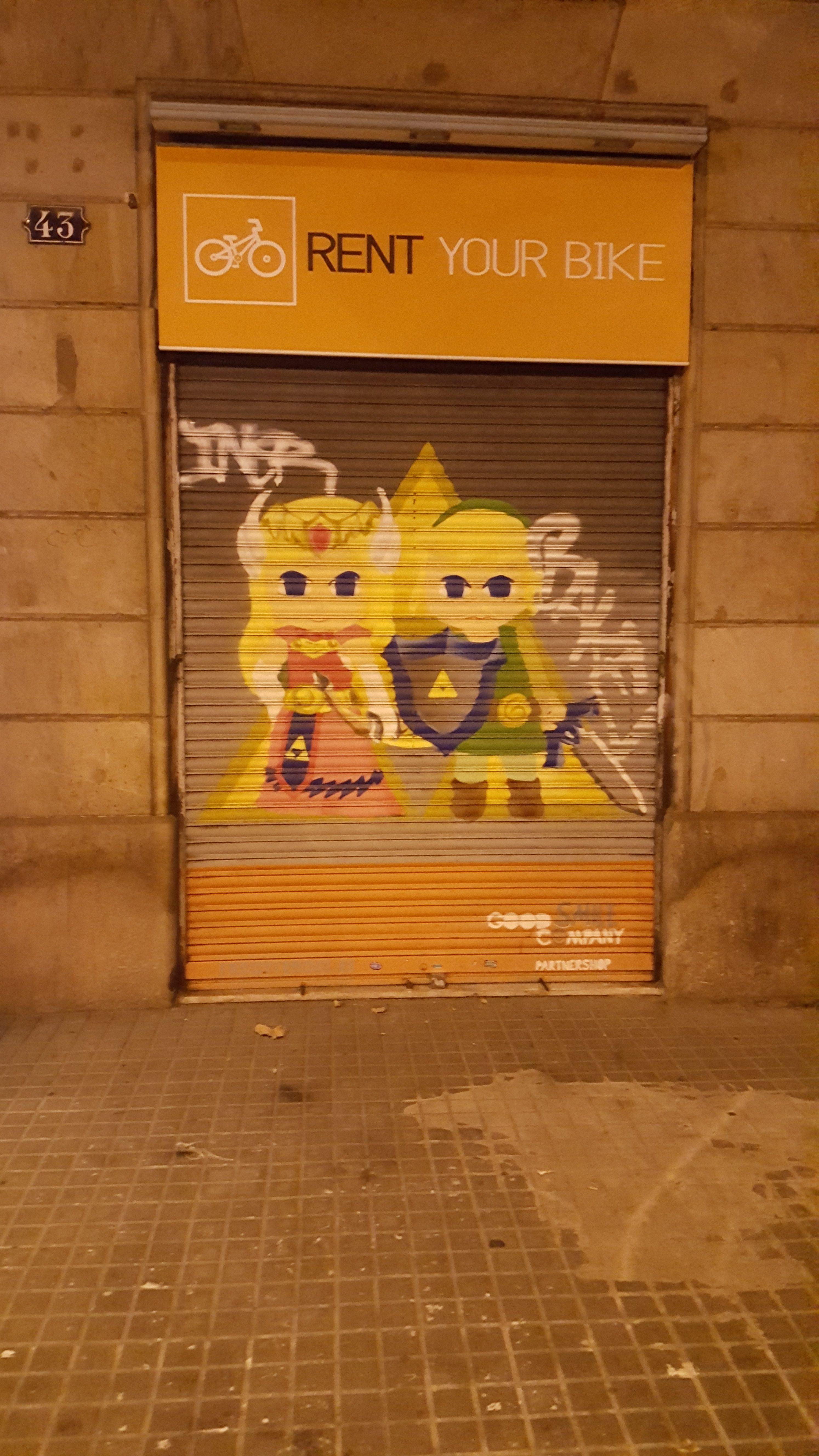 Rolladen in Barcelona